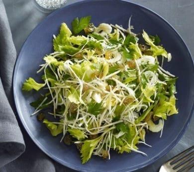 Celery Root, Celery Heart, and Celery Leaf Salad