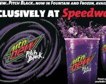 Mountain Dew: Back in black (actually, purple).