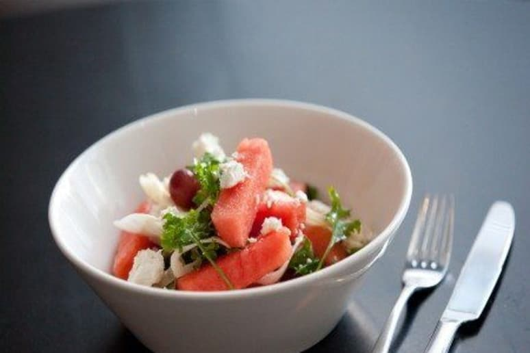 Watermelon, Feta and Pickled Grapes
