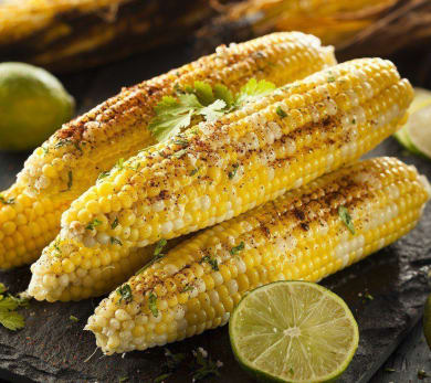 Grilled Corn With Lime Salt