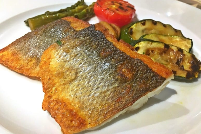 Toscana: Pan Seared Sea Bass With Grilled Baby Vegetables