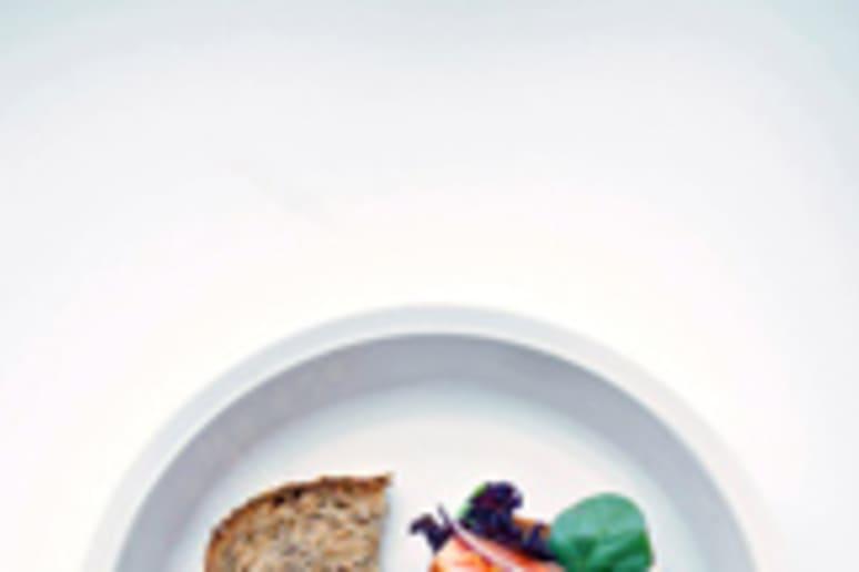 Open Faced Salmon Sandwiches  Recipe