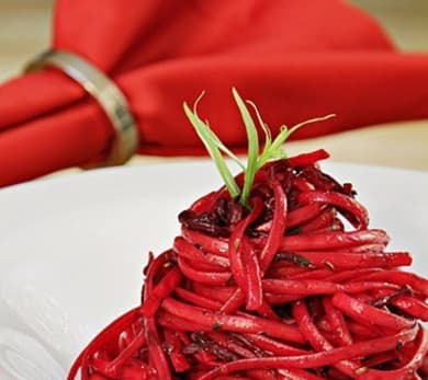 Linguine with Roasted Beets, Tarragon, and Caraway