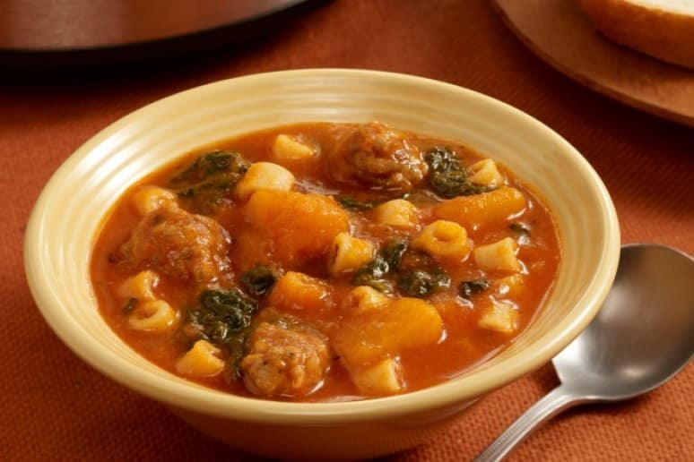 Butternut Squash Soup With Sausage