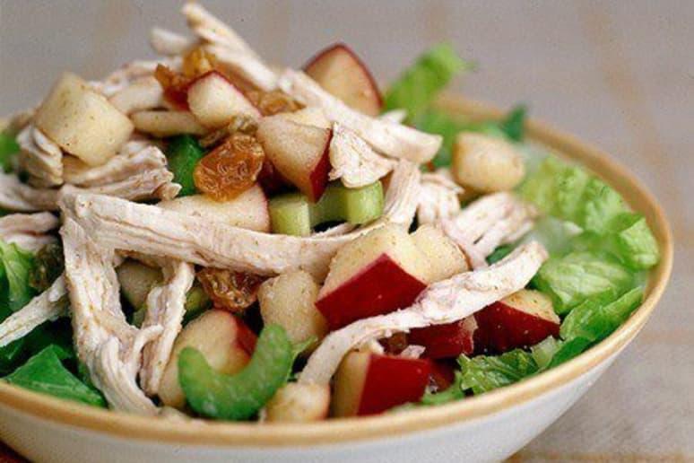 Turkey-Apple Salad with Raspberry Vinaigrette