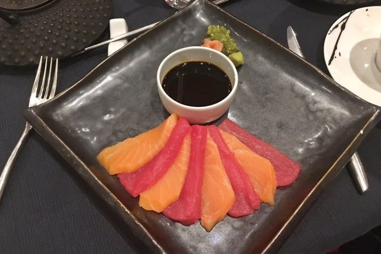Red Ginger: Salmon and Tuna Sashimi