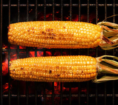 Grilled Corn and Figs with Balsamic Reduction