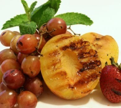 Grilled Fruit with Minted Citrus Dip