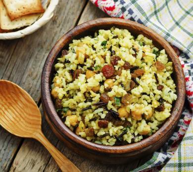 Rice with Raisins and Scallion
