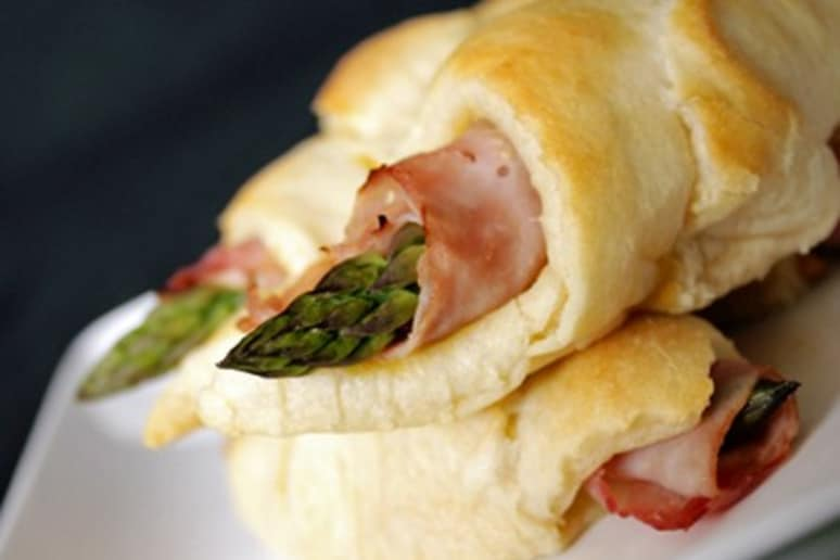 Dijon, Ham, and Asparagus Roll-Ups