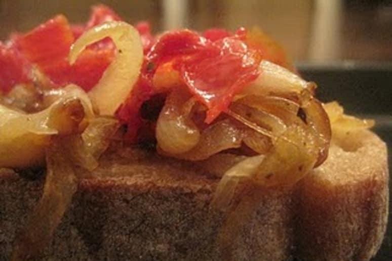 Caramalized Onion and Gruyere Sandwich