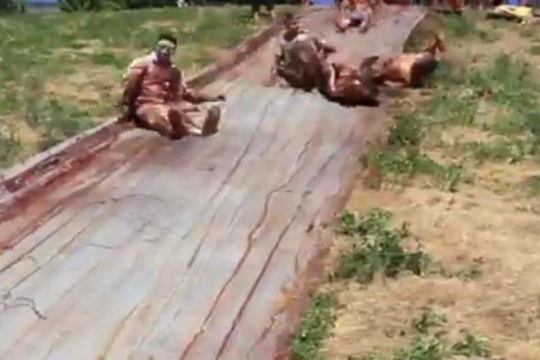 Chocolate Syrup Slip-n-Slide | Video