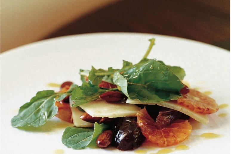 Blood Orange, date, Parmesan and Almond Salad