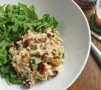 Tuna Salad with Cucumber, Cranberries, and Pecans