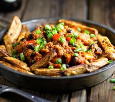 Quinoa Chili Fries