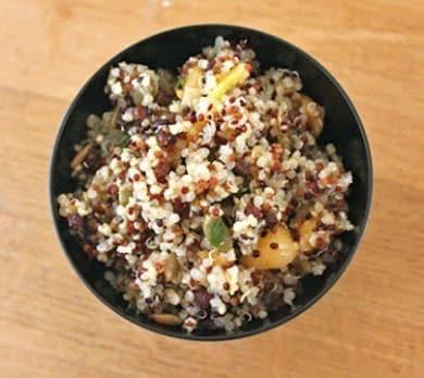 Apricot Cilantro Quinoa Pilaf