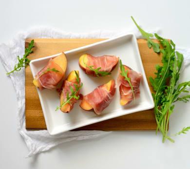 Bacon Wrapped Peaches