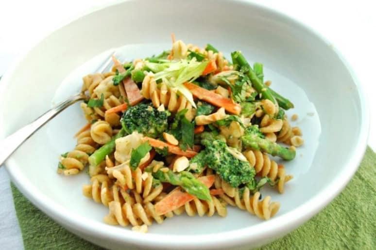 Peanut Butter Veggie Pasta Salad