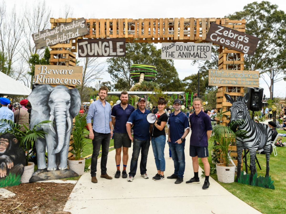 The TEM team at Stockland Jungle Park Launch