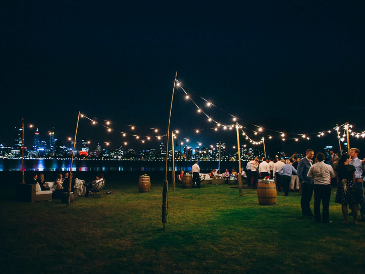 Festoon Lighting on the South Perth Foreshore