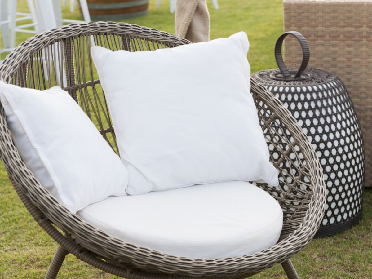 Classic Rattan Scoop Chair
