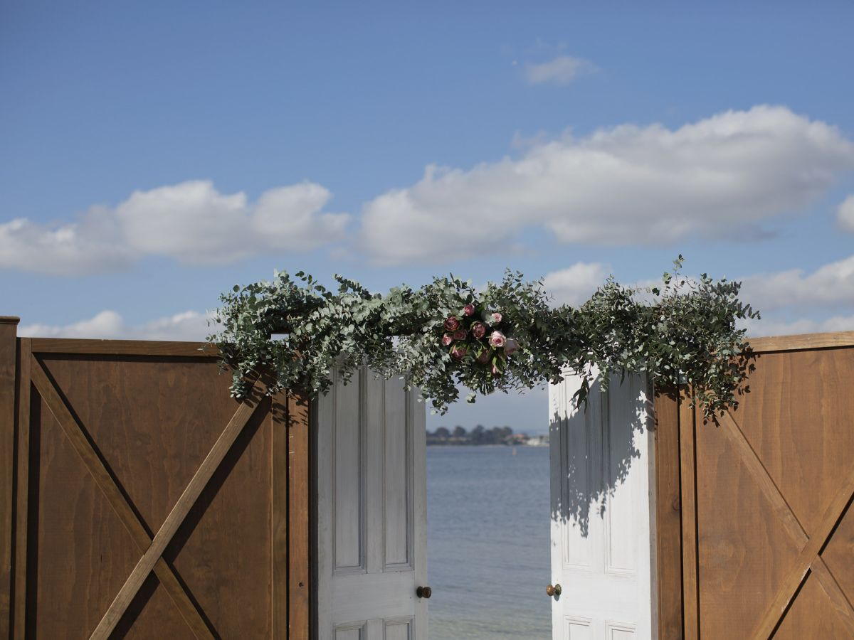 Barn Doors with Custom Florals