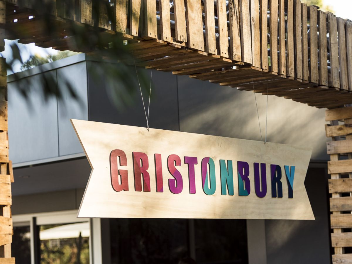 Custom Pallet Arch and Gristonbury Entrance Sign