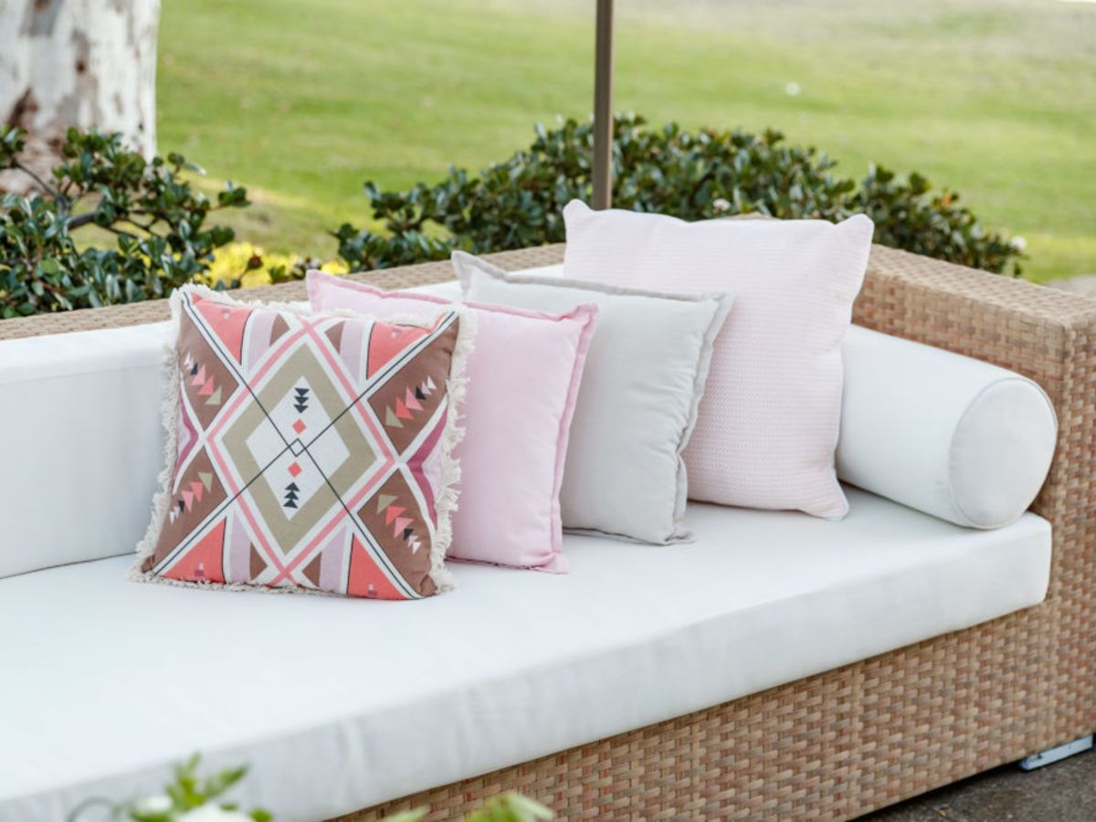 Classic Rattan Lounge with Feature Cushions