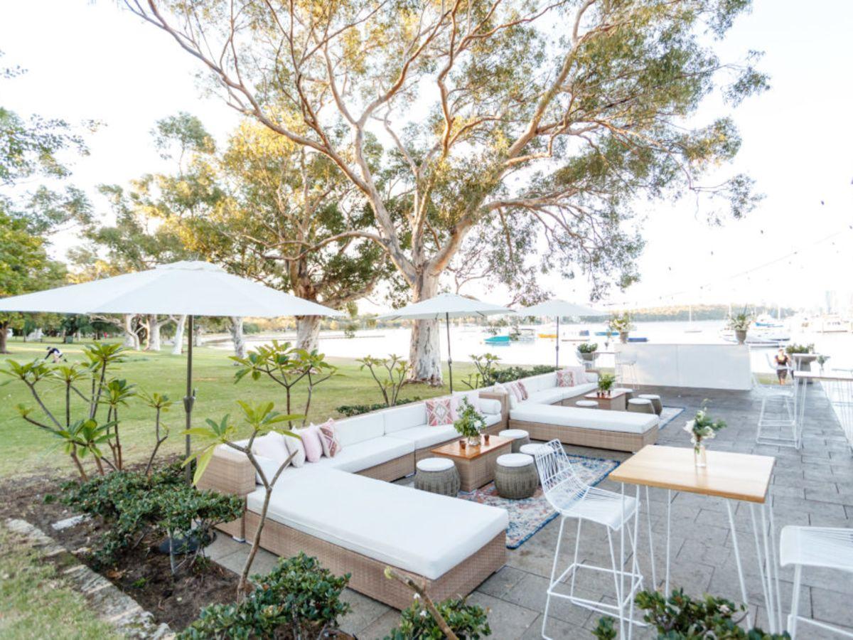 Classic Rattan Lounge Setting at Matilda Bay