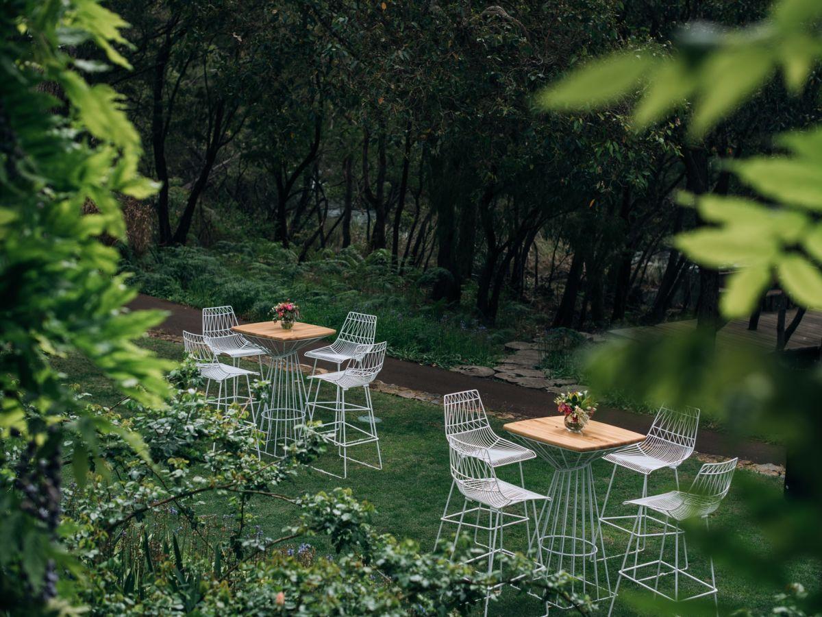 Arrow stools & Wins Cocktail tables