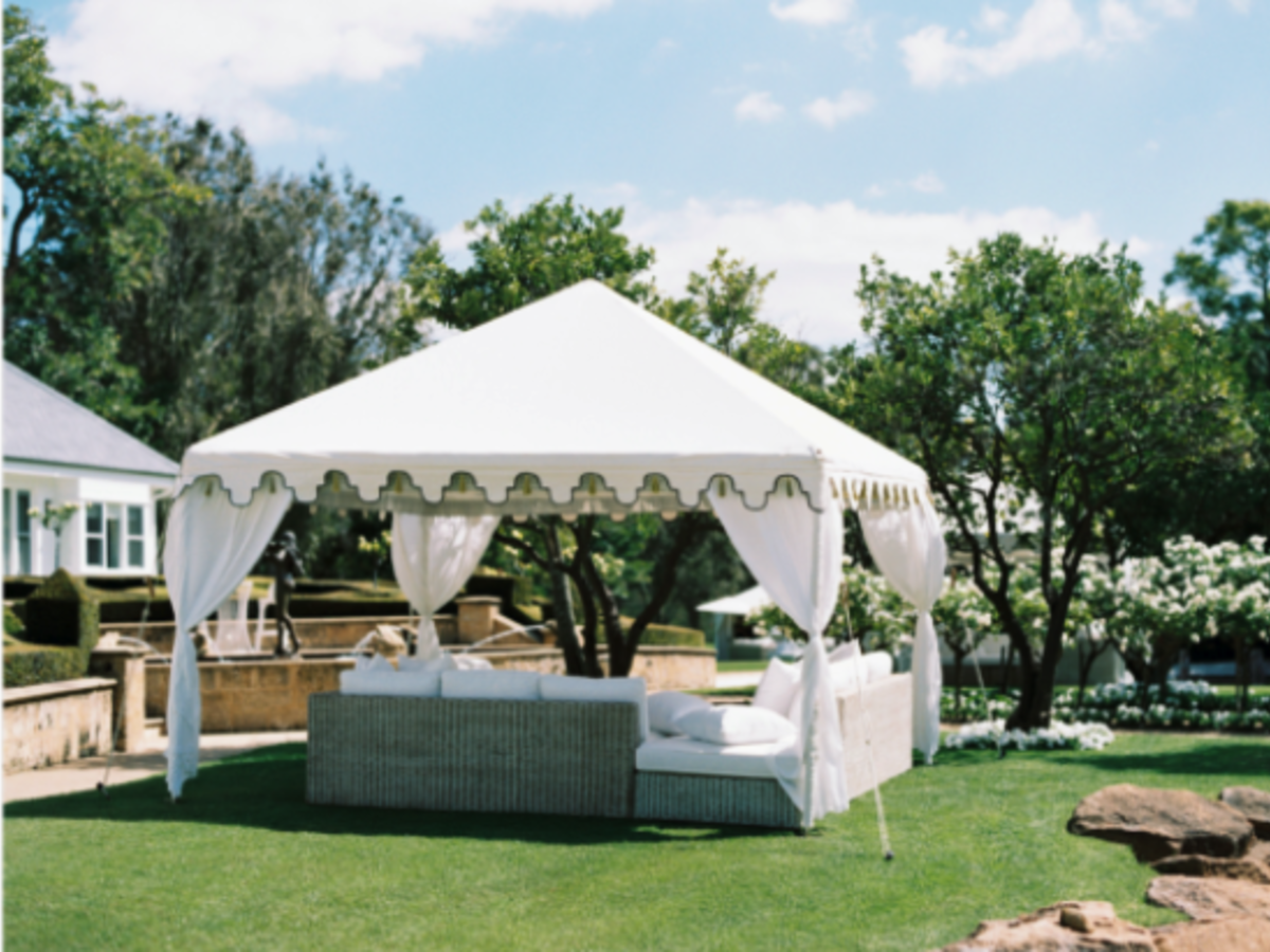 Our Beautiful Raj Canopy with Hamptons Lounges