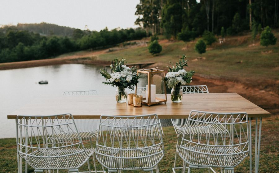 White Arrow Chairs