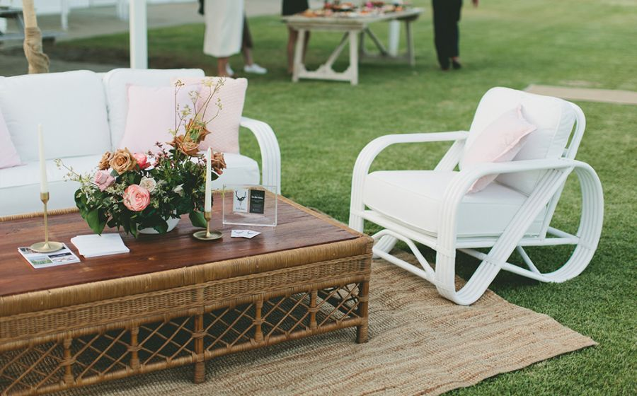 Galley Bay Cane Lounge and Coffee Table