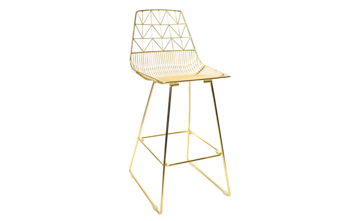 Arrow_Stool_Gold