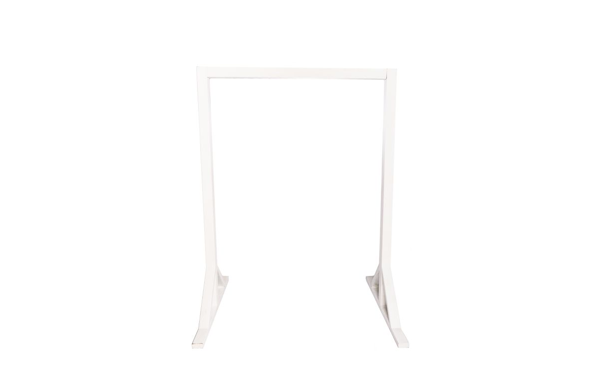 Arbour_-_White_Two_Post_with_Silks_-_2.35mH_x_1.75mW_x_1.4mbase