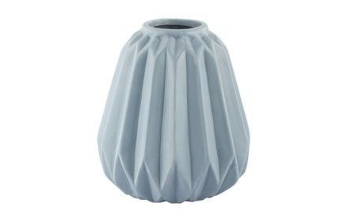 Dusty_Blue_Green_Ribbed_Vase