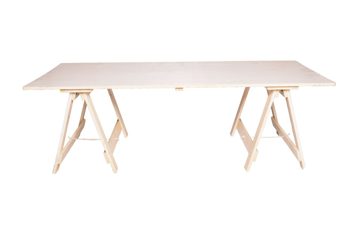 Exposed_Wooden_Banquet_Trestle_Table_-_Whitewash_-_2.4mL_x_1.1mW