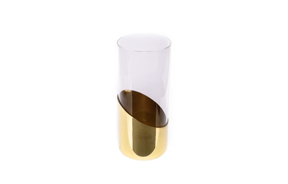 Glass_Cylinder_Vase_with_Gold_Bottom