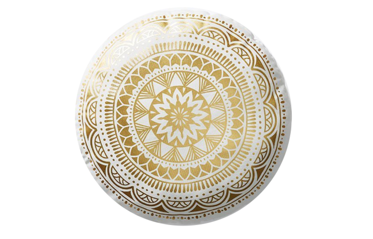 Gold_and_White_Round_Mandala_Cushion