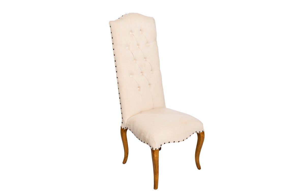 Linen_Louis_High_Back_Chair