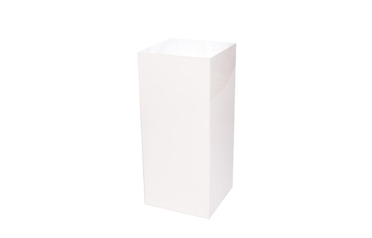 Acrylic_Plinth_White_-_40cmSQ_x_90cmH