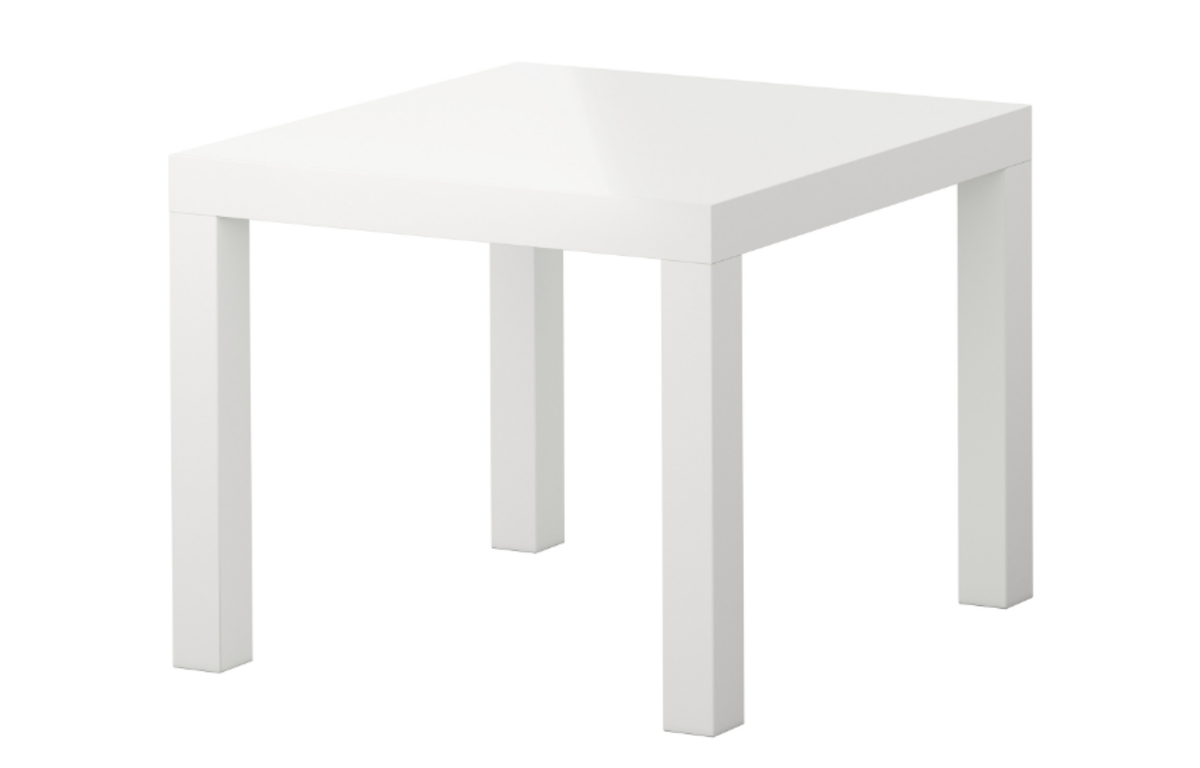 White_Square_Side_Table