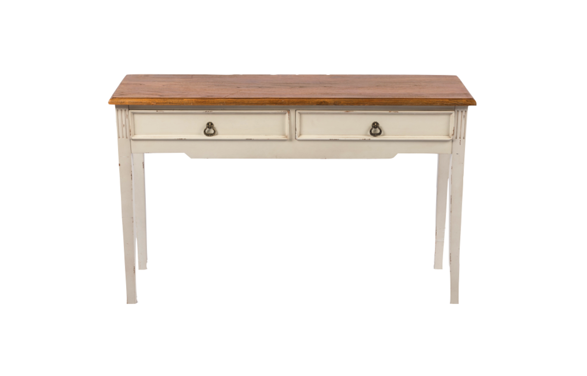Rustic_White_Console_Table