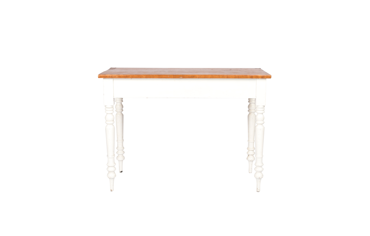 White_Console_Table_with_Wooden_top_front