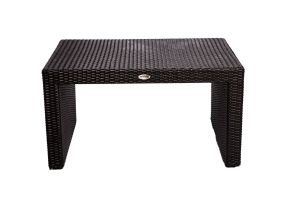 Photograph of Black Rattan Coffee Table Small – 85cmL x 60cmW x 45cmH