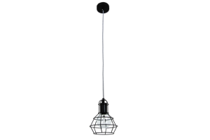 Photograph of Cage Pendant Light Black – 22.5cmL x 17.5cmW