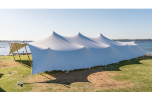 Photograph of Bedouin Stretch Tent White – 20m x 15m