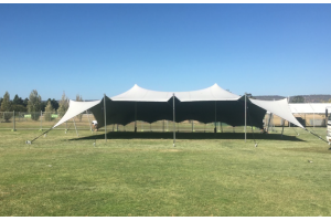 Photograph of Bedouin Stretch Tent Platinum Grey – 12m x 9m