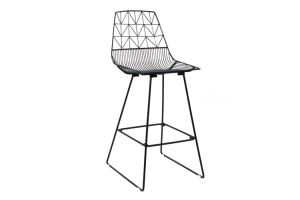 Photograph of Arrow High Bar Stool Black – 1.1mH x 48cmW