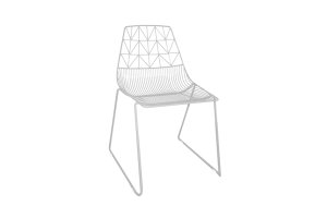 Photograph of Arrow Dining Chair White – 50cmW x 50cmL x 80cmH